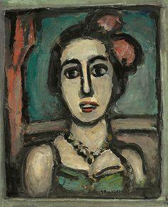 [ R ] Georges Rouault - Tête de femme