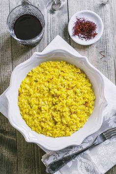 RISOTTO ALLA MILANESE (Lombardia) is a risotto prepared with rice and saffron #food #Italy #Italia