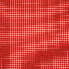 Coton tissé teint carreaux rouges