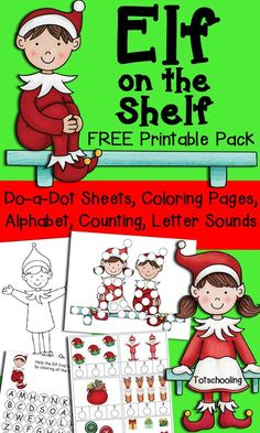 These free, printable santa' elves pages - also christmas ...