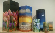 Cardboard Scatterpods and keepsake tubes for cremation ashes