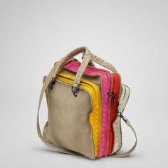 Bottega Veneta: Dakar Multicolor Washed Cervo Bag