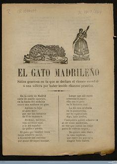 El gato madrileño : sátira graciosa en la que se declara el chasco sucedido á una soltera por haber tenido chanzas pesadas