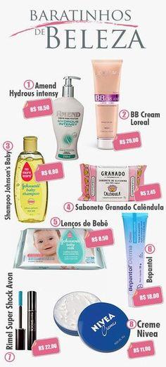 Produtos de beleza baratinhos que eu amo www.saltoagulha.com