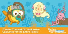 7 Water-Themed DIY Halloween Costumes for the Entire Family | Infant & Toddler Swimming Lessons - Goldfish Swim School