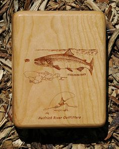 Helfrich River Outfitters Fly Box - Oregon - Rogue River on the back of the box