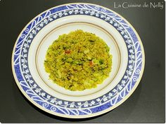 Risotto de Quinoa au Brocoli et Safran Risotto, Quinoa, Grains, Rice, Ethnic Recipes, Dinner, Spice, Vitamins, Cooking Recipes