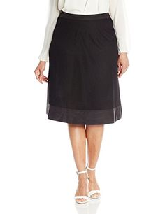 5d080c1762f Modamix Womens PlusSize Mesh Skirt Jet Black 16W    Read more reviews of  the product