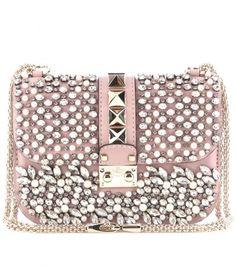 Valentino - Lock Small embellished leather shoulder bag - mytheresa.com GmbH