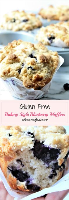 gluten free blueberry muffins These gluten free bakery style blueberry muffins are just like the ones found in bakeries and coffee shops, maybe even better! Theyre chock full of blueberries and have a wonderful crumb topping thats crunchy and sweet. Gluten Free Blueberry Muffins, Gluten Free Carrot Cake, Gluten Free Bakery, Gluten Free Pancakes, Gluten Free Recipes For Breakfast, Blue Berry Muffins, Gluten Free Coffee Cake, Blueberry Bread, Free Breakfast