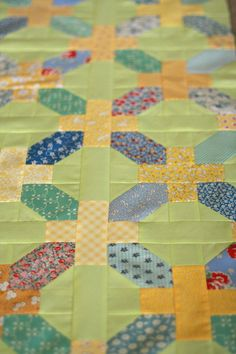 Great 30's reproduction fabrics used here in this original pattern by Calli Taylor (and her mother) of Make It Do.