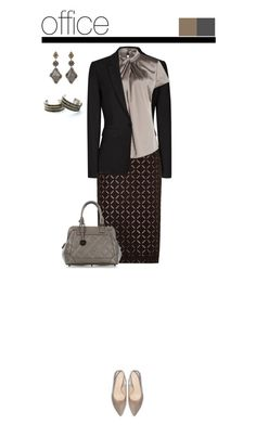 """""""Office outfit: Black - Taupe"""" by downtownblues ❤ liked on Polyvore featuring Picard, Sevan Biçakçi, Child Of Wild, women's clothing, women, female, woman, misses, juniors and pencilskirt"""