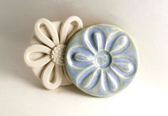 Daisy Clay Stamp -- Extra Large -- Flower Texture or Pattern Tool for Ceramics Pottery Polyclay