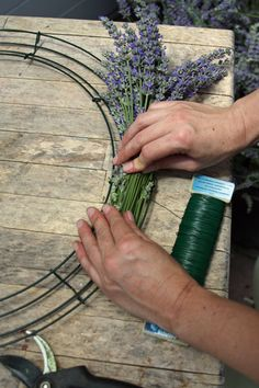Making a Lavender Wreath- I hope my lavender comes back strong this year so I can try this!
