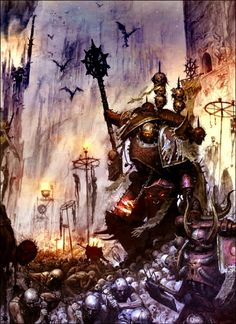 The Word Bearers are notable for being the only Traitor Legion who still have a corps of Chaplains, now known instead as Dark Apostles. The Word Bearers follow the words of their Dark Apostles with total faith in battle.