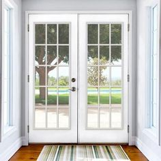 Retrofit Prehung Left Hand Inswing Primed White Steel Patio Door, White  Primer | Doors And Patios