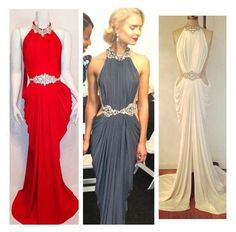 Sexy High Quality Mermaid Evening Dresses 2015 Real Image Red White Front Slit Prom Dress Elegant Bling Beaded Halter Formal Gowns Celebrity Evening Dresses Online Shop Evening Dresses Online Usa From Eiffelbride, $103.52  Dhgate.Com