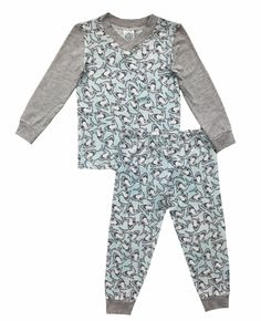 Esme Boys Pajamas Long Sleeve Top & Pant Set 5 Shark / Grey. Esme size runs different than other brands, check the measurements below under Product Description, order at least 2 size up. (For example, if you wear size 6, you may need order Esme size 8). Most Comfortable & Super Soft; 47% Modal/47% Cotton/6% Spandex. Soft pima / modal cotton. Breaths in cold and warm weather. Made in USA. Machine wash in warm or cold water.