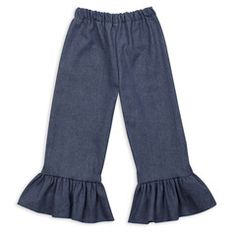 Swoon! Love this Chambray Denim Ruffle Pant I discovered at lollywollydoodle.com and for only $16! Click the image above and receive $5 off on your next order!