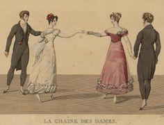 """""""La Chaine des Dames"""" (DIe Damenkette), Tanzfigur, vermutlich frühe 1820er"""