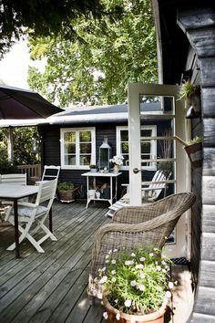 Sehr kandinavisch: Tolle Garten Idee oder Terrassengestaltung  *** cozy outdoor space idea scandinavian style