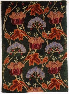 Art Nauveau Tulips, Source: Silver Studio textile woven silk and wool double cloth 1895-1900