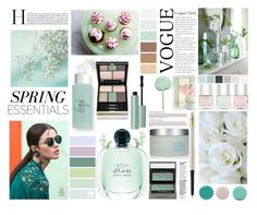 """""""Senza titolo #5936"""" by waikiki24 on Polyvore featuring bellezza, RéVive, Jin Soon, Kevyn Aucoin, Nails Inc., Burberry, Lancôme e red flower"""