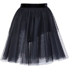 Elie Saab Tulle Mini Skirt (15.130 ARS) ❤ liked on Polyvore featuring skirts, mini skirts, black, high-waisted skirts, a-line skirt, short a line skirt, tulle skirt and high waisted mini skirt