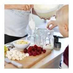 HEMSMAK Jar with lid  - IKEA Ikea, Tapas, Yogurt And Granola, Overnight Oatmeal, Continental Breakfast, Small Storage, Chocolate Fondue, A Table, Jar