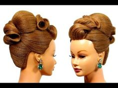 French twist hairstyle for medium hair. Prom updo tutorial - YouTube