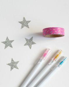 Sprinkles-Washi-Tape and coloured gel pens
