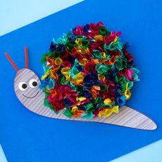 Tissue Paper Snail Craft