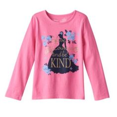 Disney's+Cinderella+Girls+4-7+Floral+Glitter+Tee+by+Jumping+Beans+