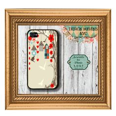 Bird House Love iPhone Case, Hard Plastic iPhone Case, Fits iPhone 4, iPhone 4s & iPhone 5 via Etsy