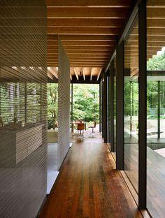 Glass/Wood House Remodel by Kengo Kuma and Associates