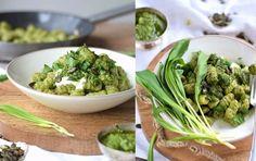 Bärlauch oder Basilikum Gnocchi mit Pesto