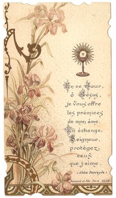 Antique Vintage French Art Nouveau Holy Prayer by 12StarsVintage