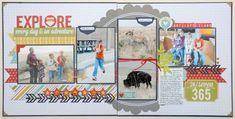 Explore double page layout by Jana Eubanks
