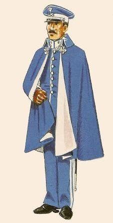 Cazadores de Treviño nº 26 1909-22 Oficial diario fuera de actos de servicio con capota