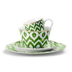 Green Ikat Dinnerware - eclectic - dinnerware - C.