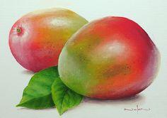 Mango Still Life by Nolan Clark Dining Room Art, Still Life, Fine Art America, Original Art, Mango, Community, Painting, Manga, Painting Art