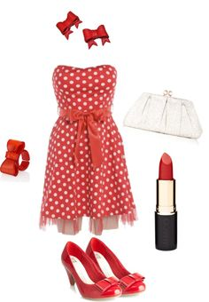 """Disney inspired outfits: Minnie Mouse"" by melissa-rose-723 on Polyvore"