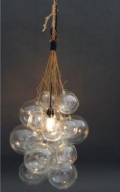 Glass Orb Cluster Light