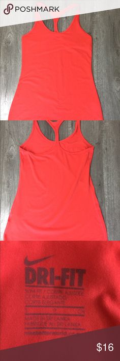 Nike dri-fit red Workout tank S Good condition. Minimal wear. Nike Tops Tank Tops