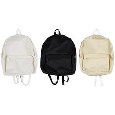 Couple Backpack (687.285 IDR) ❤ liked on Polyvore featuring bags, backpacks, rucksack bag, day pack backpack, white bags, backpacks bags and white backpack