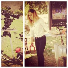 Lauren Conrad on site for an #LCLaurenConrad photo shoot. #Kohls