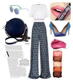 """Untitled #42"" by yundakenanga on Polyvore featuring Etro, Topshop, SJP, Isabella Fiore, Fiebiger, NYX and Urban Decay"