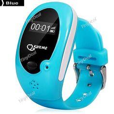 KareMe PT02 Kid Smart Watch Phone GPS Dialer Remote Monitoring History Path Tracking Geo-fence Alarm Clock E-476273