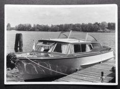 Vintage Photo - Cabin Cruiser - Vintage Boat - Germany - Snapshot - Summer…