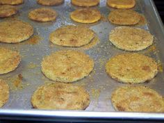 OVEN FRIED SQUASH/GREEN TOMATOES...Always wanted to learn how to make these!